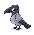 lonely crow with cute bird in vector image vector image