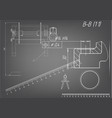 machine-building drawings on a gray background vector image vector image