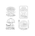 monochrome logos for catering companies vector image vector image