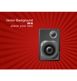 musical background with speaker vector image vector image