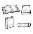 open book sketch engraving vector image