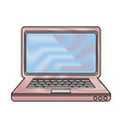 pc laptop technology vector image vector image