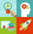 personal development concepts in flat style vector image vector image