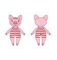 pig wearing a leotard in a cartoon style vector image