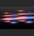red and blue special effect luminous vector image