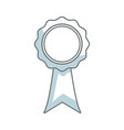 rosette certificate quality premium ribbon icon vector image vector image