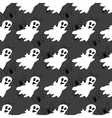 Seamless pattern with white ghosts vector image vector image