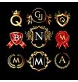 set luxury monograms vector image vector image
