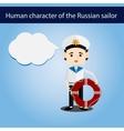 set men European character sailor vector image vector image