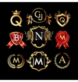 Set of luxury monograms vector image vector image