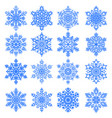 snowflakes collection isolated on light background vector image vector image