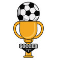 soccer sport ball trophy tournament image vector image vector image