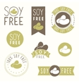 Soy free hand drawn labels vector image