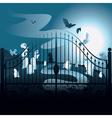 Spooky Halloween Cemetery vector image vector image