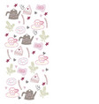tea time banner in doodle style vector image vector image