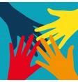 Teamwork Community Social Design Flat Concept vector image