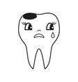 teeth cry icon vector image