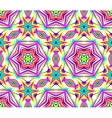Thin Kaleidoscope Star Flower Pattern vector image vector image
