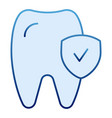 tooth check flat icon healthy tooth blue icons in vector image