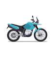 travel motorcycle off road concept active vector image