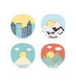 travel vacations set icons icon ilustration vector image vector image