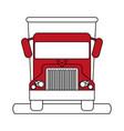 truck flat vector image vector image