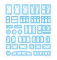 types opening and closing windows and doors vector image