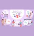 underwear flat infographic vector image