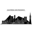 usa california san francisco architecture vector image vector image