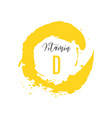 vitamin d watercolor logo yellow ink splash vector image vector image