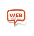 WEB message sticker orange vector image vector image