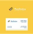 wheat logo design with business card template vector image