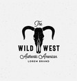 wild west american abstract sign symbol or vector image
