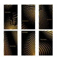 Business cards design with golden dots vector image