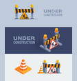 under construction web banners vector image