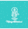 Christmas Pattern Candle vector image