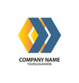 polygon business logo shape arrow vector image