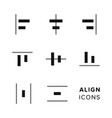 align icons collection set of simple editing and vector image