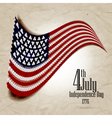 Happy independence day United States of America 4 vector image
