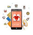 ecommerce web design online concept mobile phone vector image