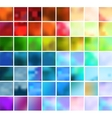 Set backgrounds vector image