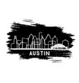 austin texas city skyline silhouette hand drawn vector image vector image
