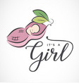 baby girl design element for greeting cards vector image