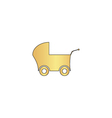 Baby Stroller computer symbol vector image