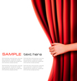 Background with red velvet curtain vector | Price: 1 Credit (USD $1)