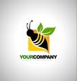 Bee Logo Design Concept vector image