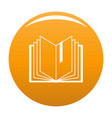 book bookmark icon orange vector image vector image
