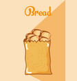 breads inside bag vector image vector image