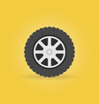 car wheel flat icon - car service symbol vector image vector image