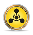 Chemical hazard icon vector image vector image